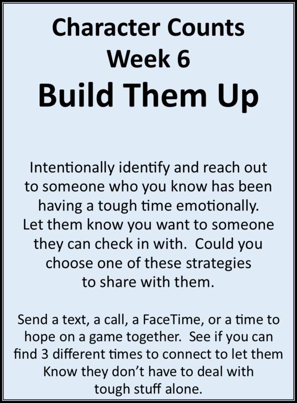 Week 6 Build Them Up