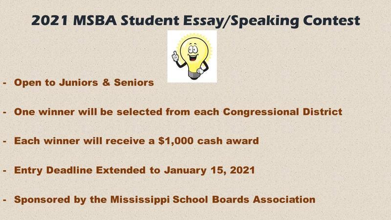MSBA Essay/Speaking Contest Graphic