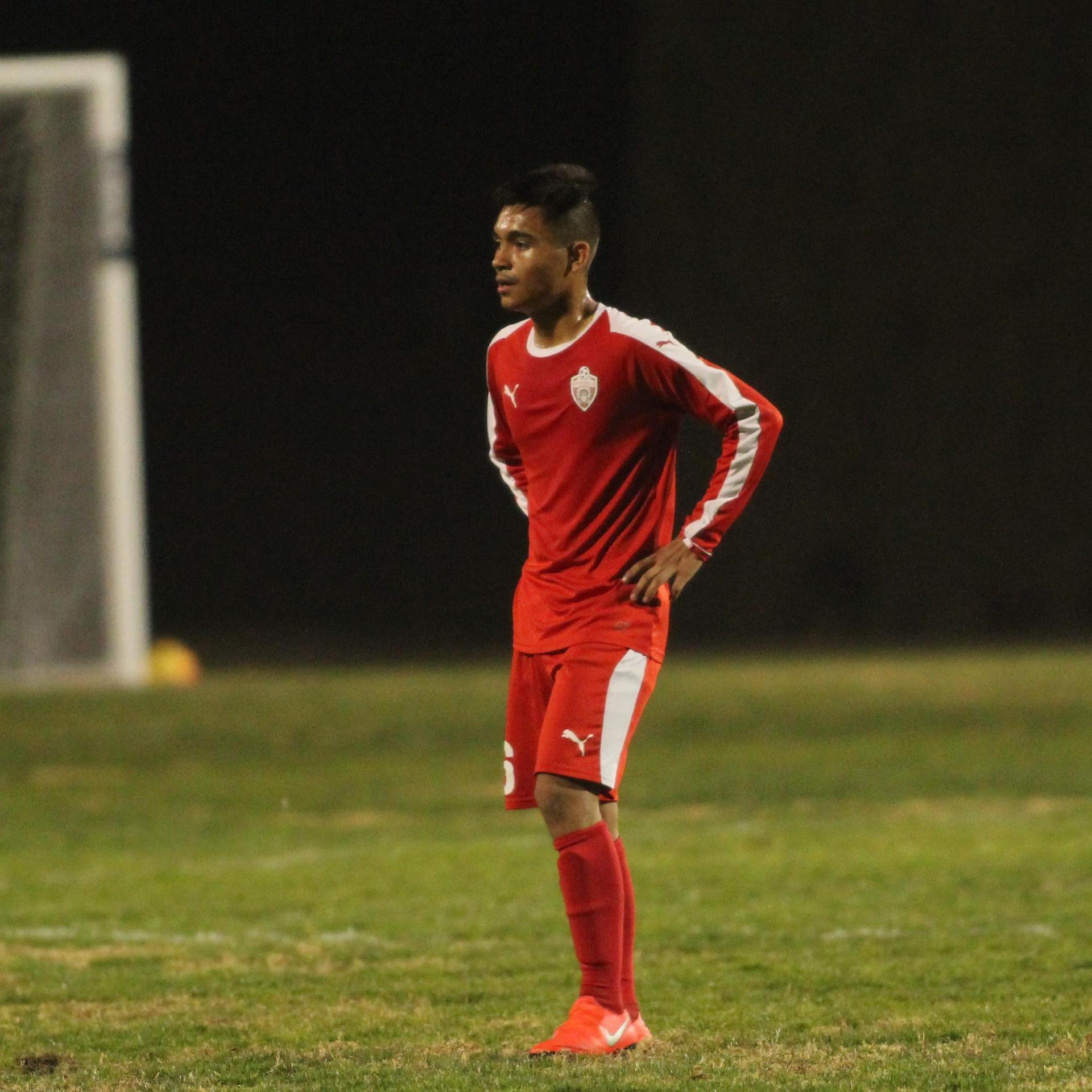 Arwin Brizo on the field