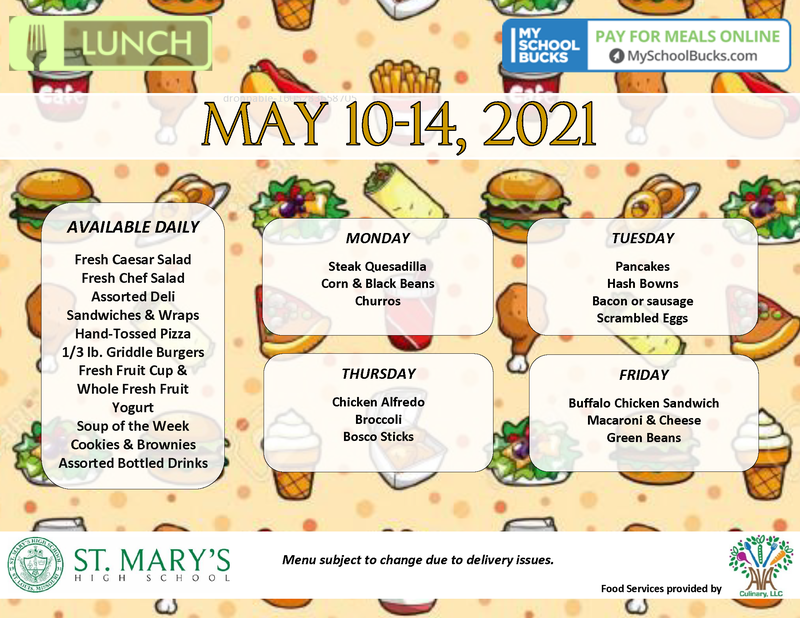Check out this week's lunch menu!