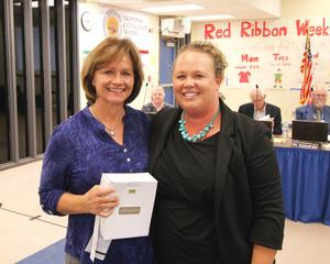 Lanette Hollenkamp with Board Vice President Megan Hayley