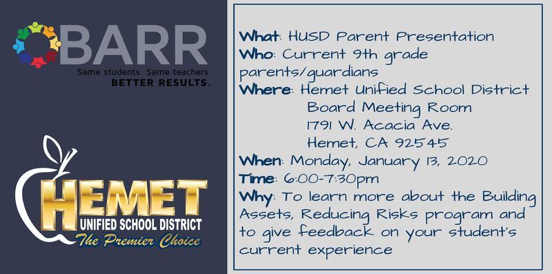 HUSD Parent Presentation