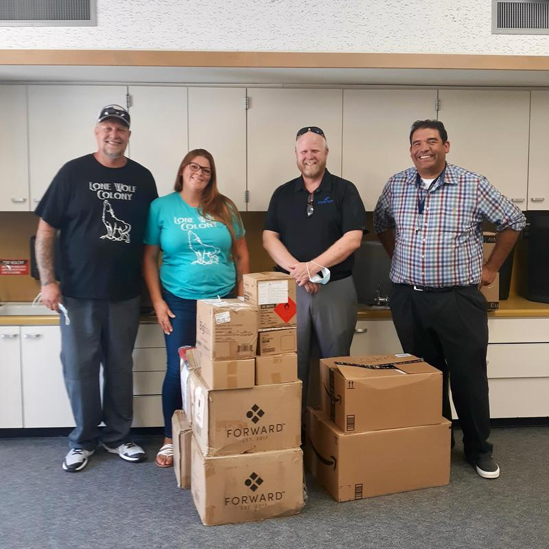 Lone Wolf Colony Makes Special Donation Featured Photo