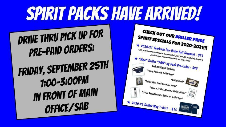 spirit pack pick up