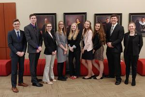 TKHS BPA students attend the regional competition at Davenport University.