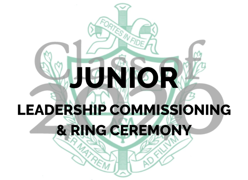 Junior Leadership Commissioning & Ring Ceremony