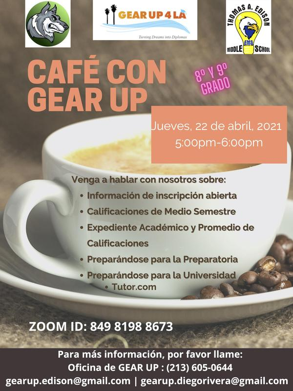 CAFE CON GEAR UP Featured Photo