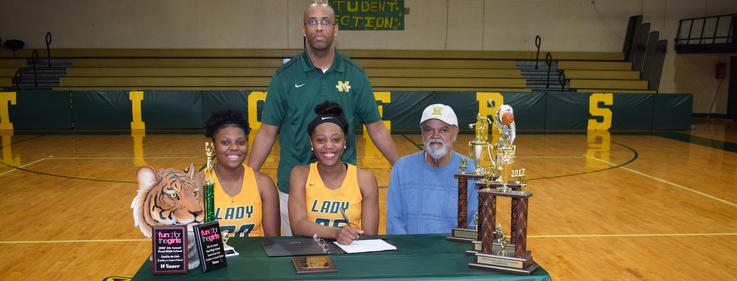 MHS Senior Guard signs scholarship to play women's basketball at Jones Community College.