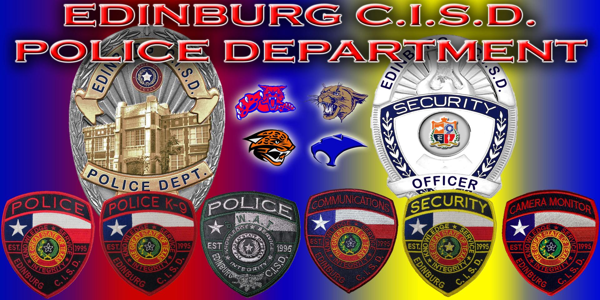 Welcome to the Police Department banner