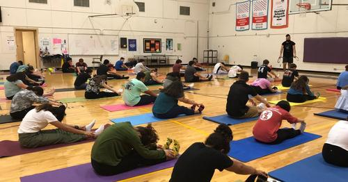 Yoga at Lamar Academy