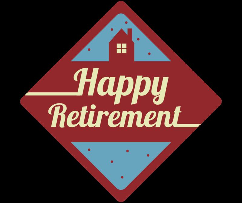 happy retirement icon