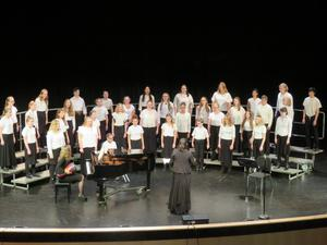 The TKMS 8th-grade choir received a very high score at festival recently to qualify for the state festival in May.