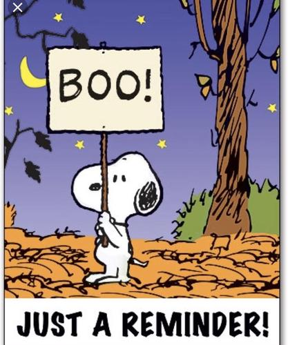 Snoopy Halloween picture