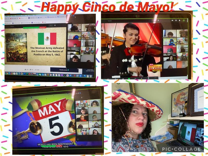 Cinco de Mayo zoom celebrations collage