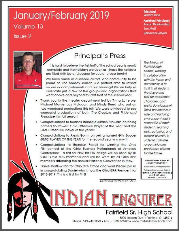 January/February 2019 Edition of FHS Indian Enquirer Now Online Featured Photo