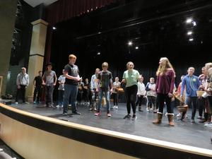 Students are getting a chance to rehearse on stage before the opening nights.