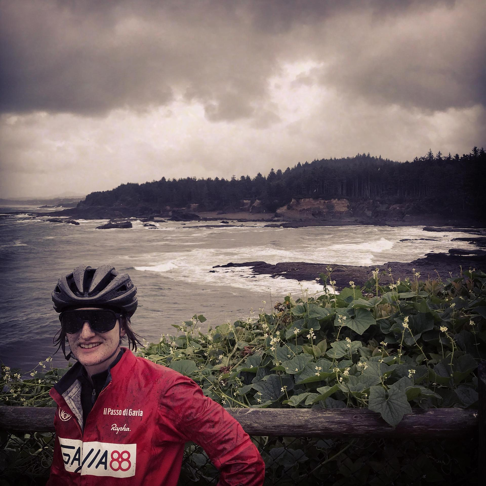 Riding on the Oregon Coast