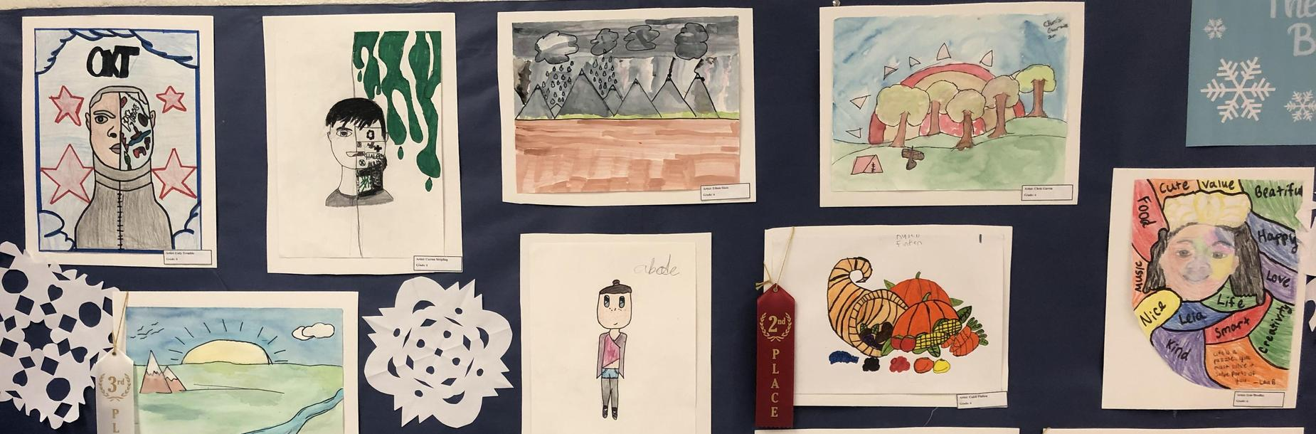 Art on Display during the Winter Fine Arts Program