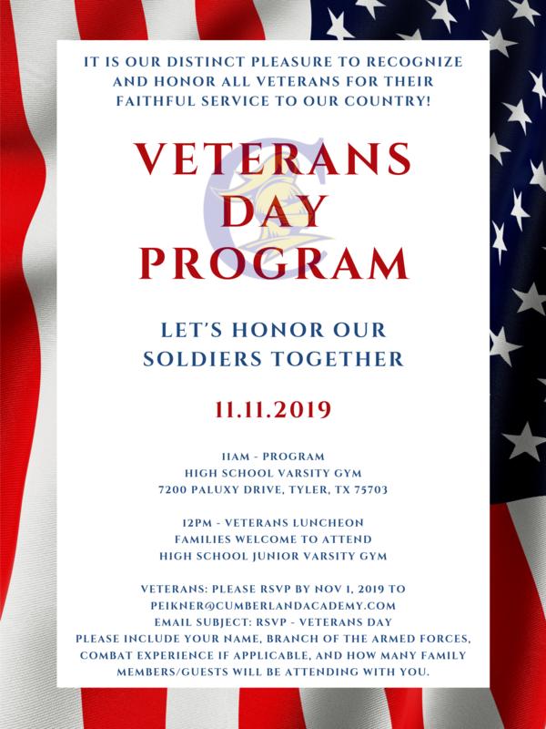 Veterans Day Program Featured Photo