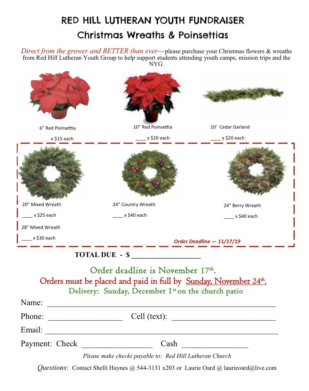 Poinsettia Order Form