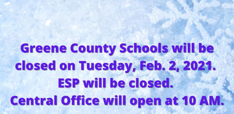 GCS Closed Tuesday, Feb. 2, 2021