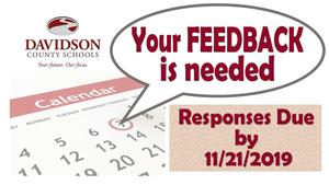 Your Feedback is Needed - 2020-2021 Calendar Draft Survey