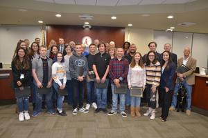 Saugus High School Students and Staff recognized by the Hart District Governing Board