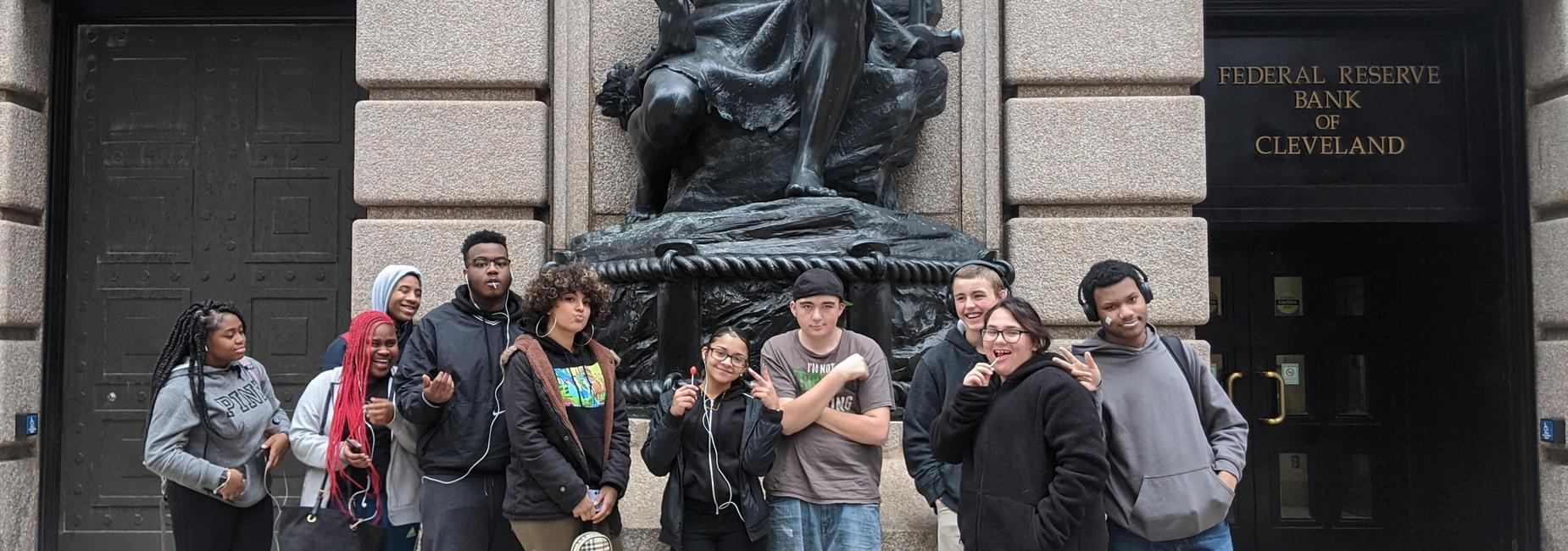 Cleveland Federal Reserve Field Trip Student Picture.