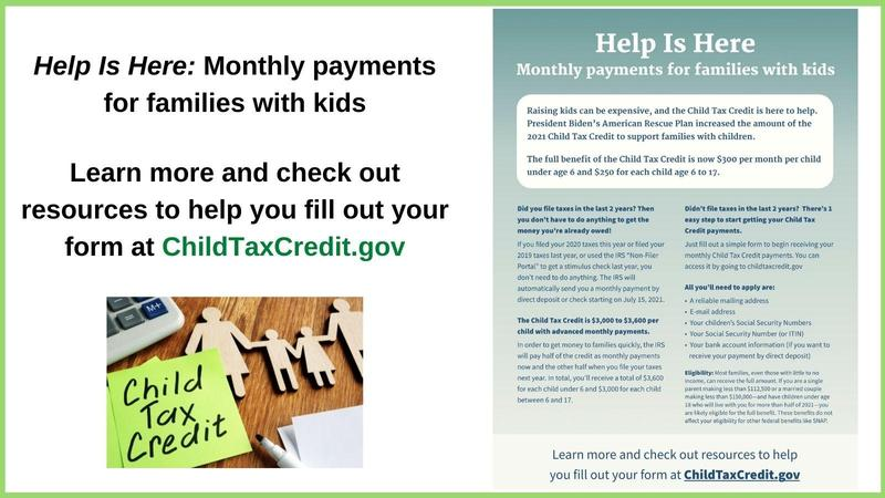 Information in English about the Child Tax Credit