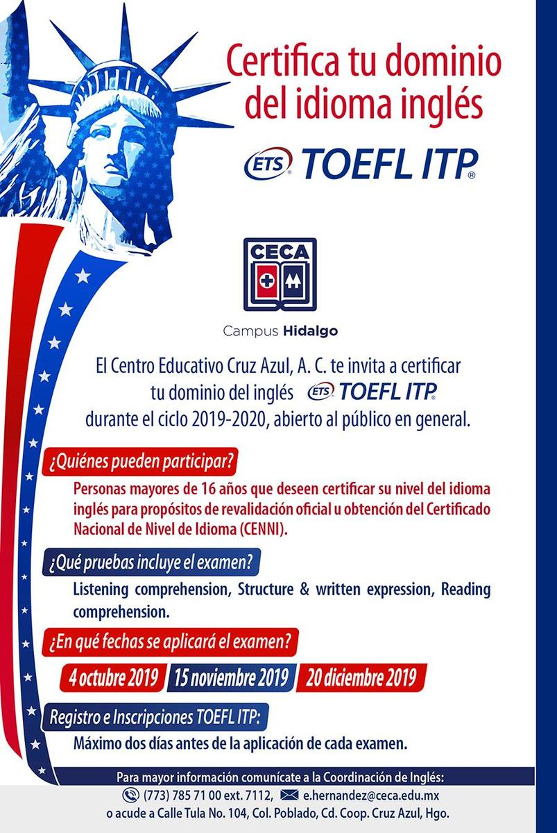 Ingles TOELF 2019