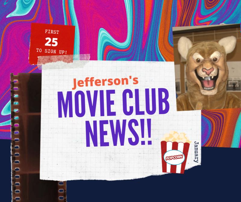 Movie Club News! Starting Up January 28th! Thumbnail Image