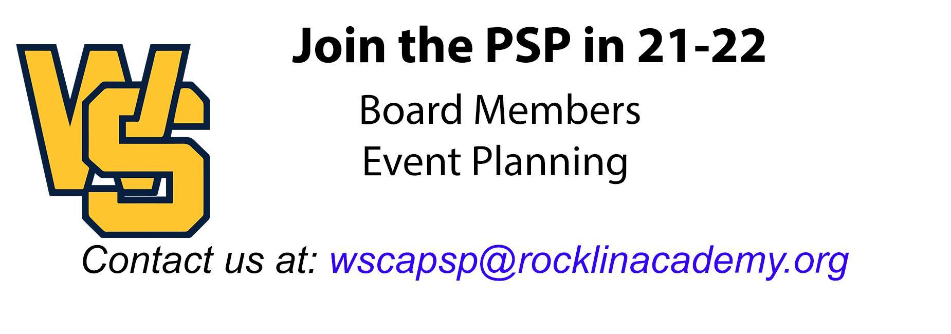 Join the PSP in 21-22