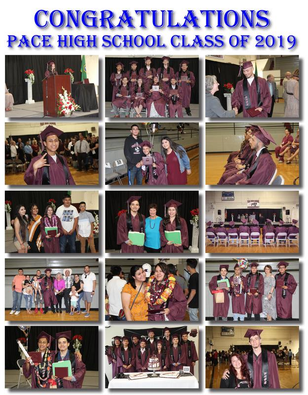 A collage of photos from the 2019 PACE High School Graduation