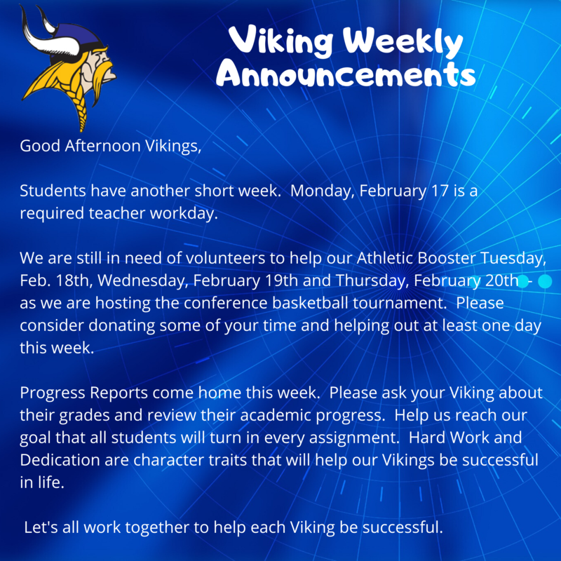 viking weekly announcements