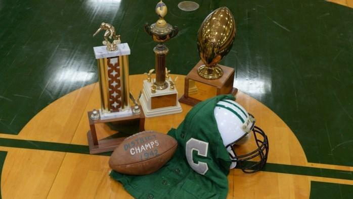 jersey and trophies