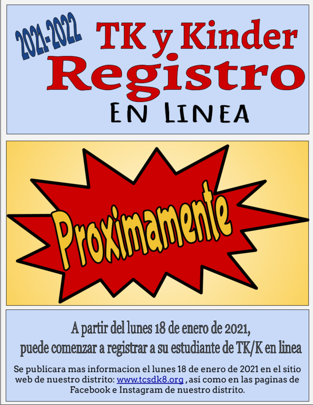 TK K Registration - Image Spanish