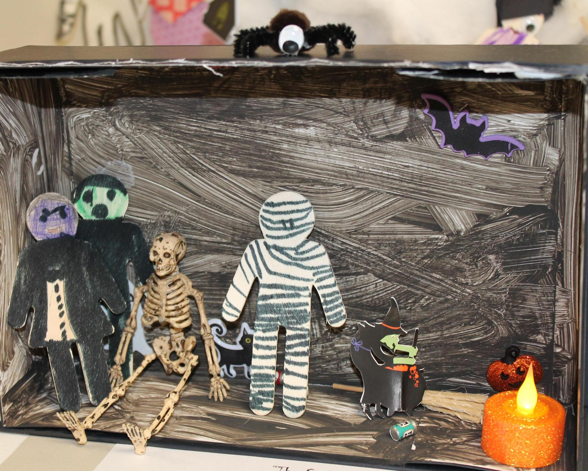 2nd grade Halloween diorama