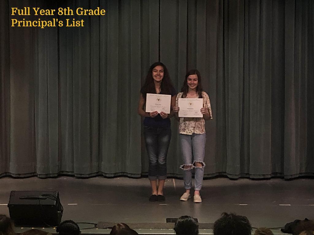 FY 8th Grade Principal's List