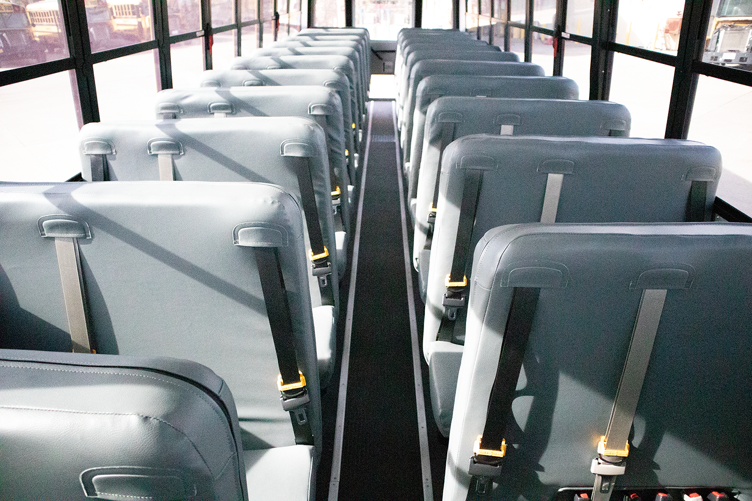 school bus seats with seat belts