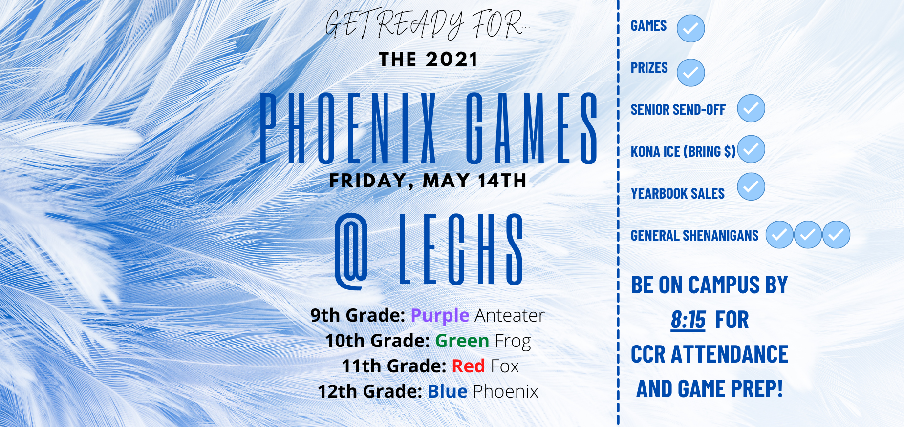 Phoenix Games, Friday, May 14 @ LECHS