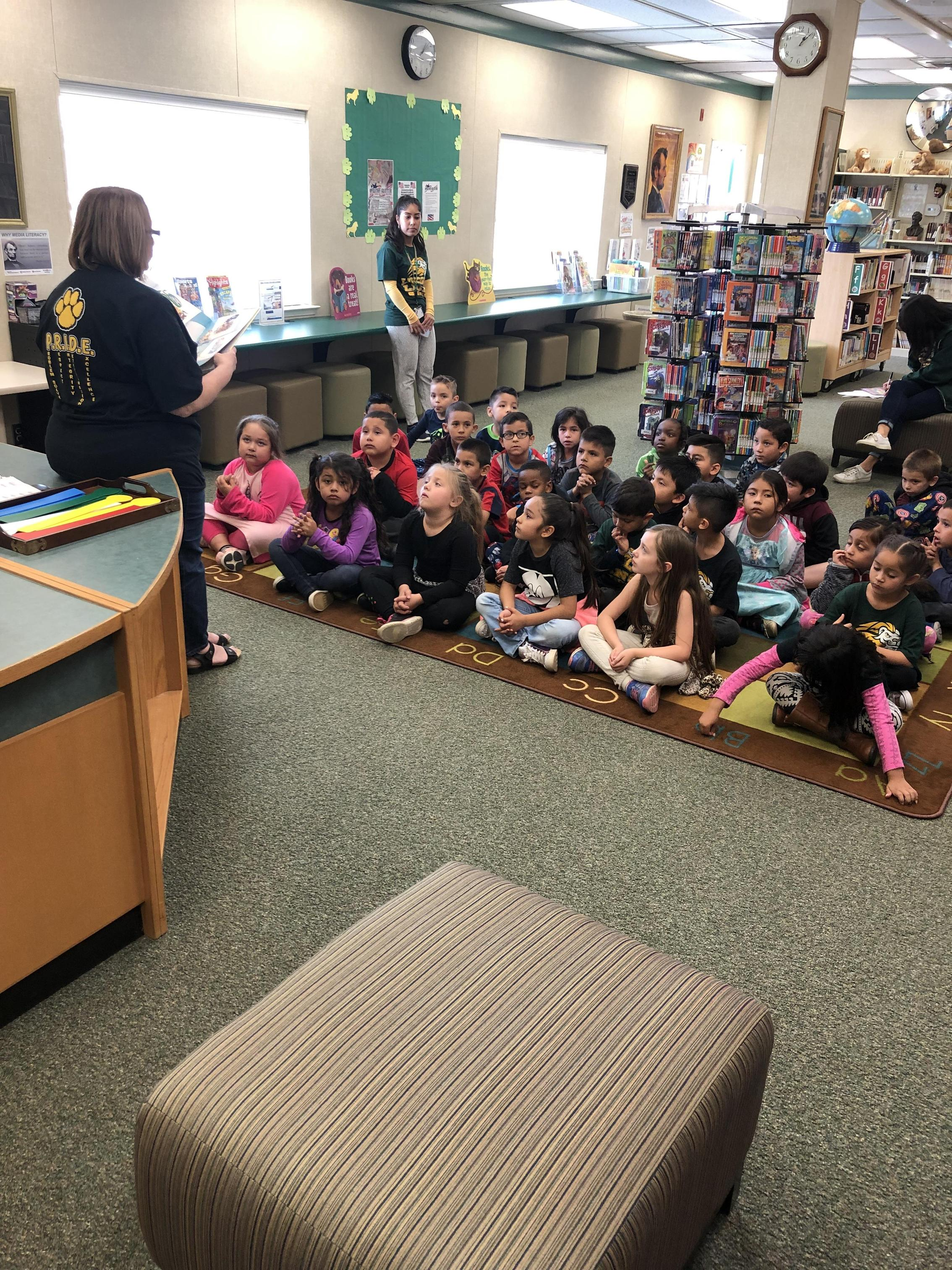 Librarian reading story 2