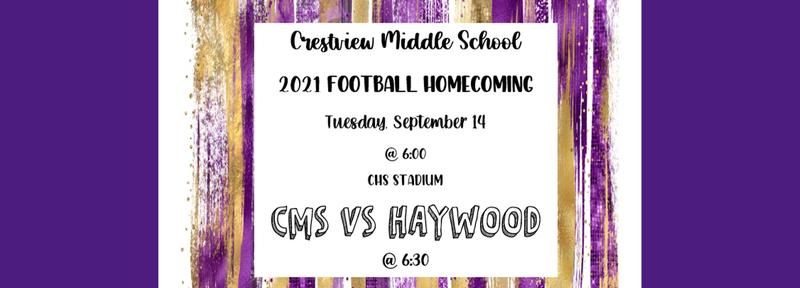Homecoming Scheduled September 14th, 2021 6:00pm