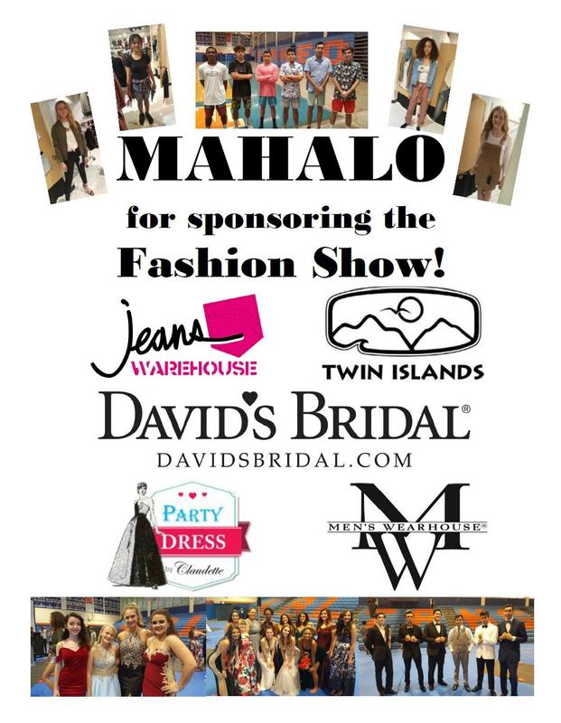 Mahalo to our Fashion Show sponsors! Featured Photo