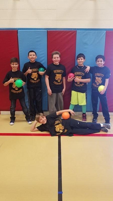 Dodge ball winners!