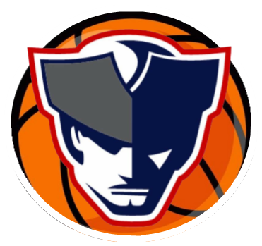 Patriot logo with a basketball