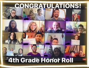 4th grade honor roll zoom