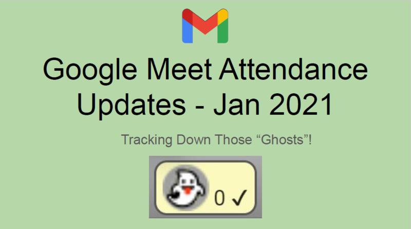 Google Meet Attendance Updates