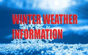 Winter Weather Information Graphic