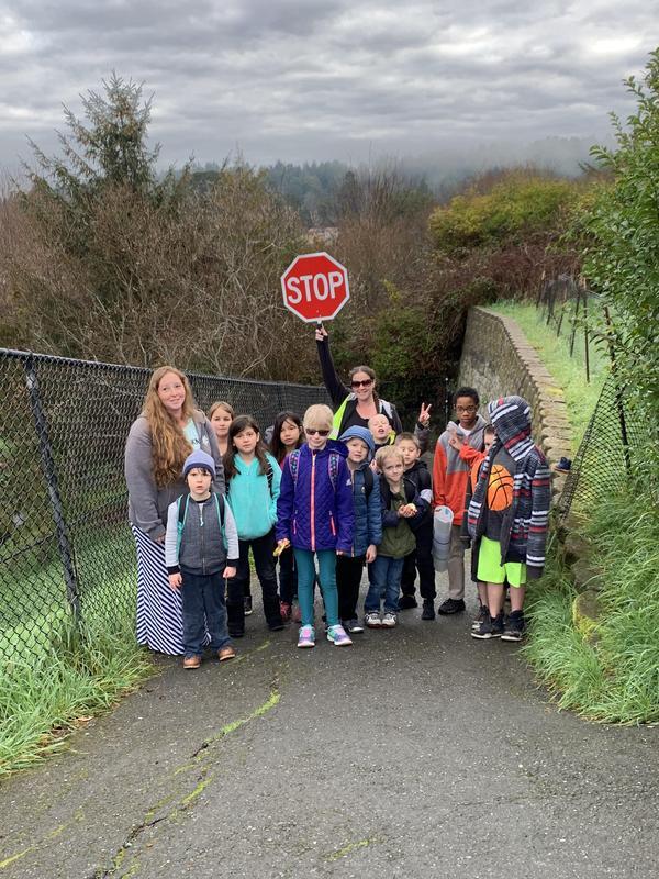 Walking school bus group
