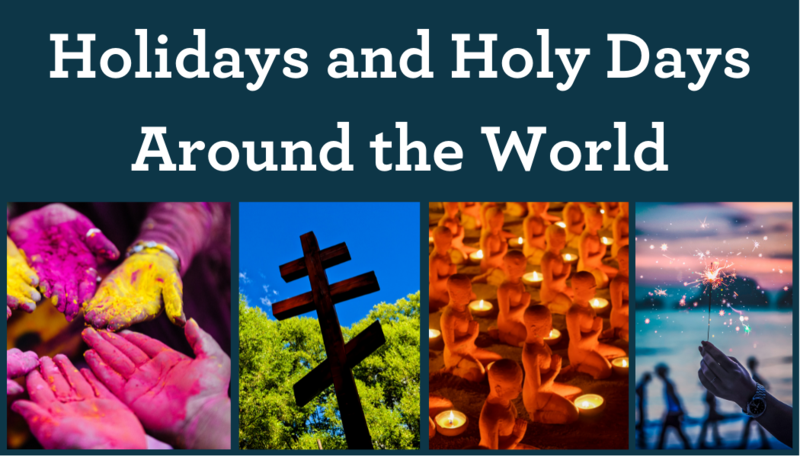 Holidays and Holy Days